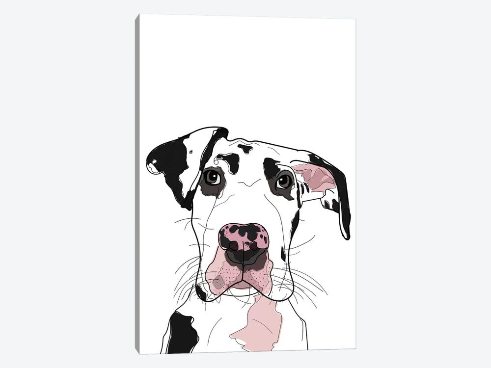 Dane by Sketch and Paws 1-piece Canvas Wall Art