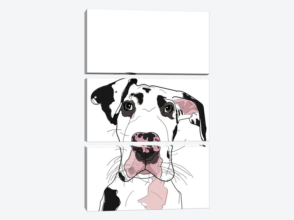 Dane by Sketch and Paws 3-piece Canvas Artwork
