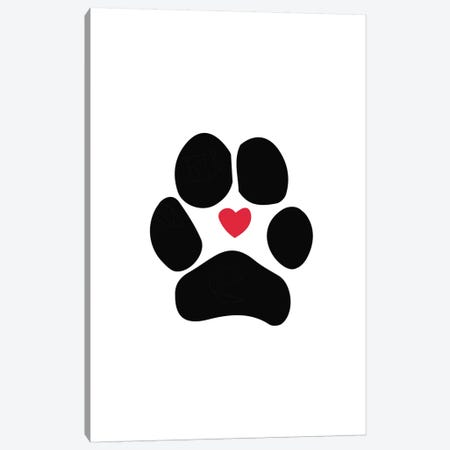 Dog Paw Canvas Print #SAP37} by Sketch and Paws Canvas Artwork