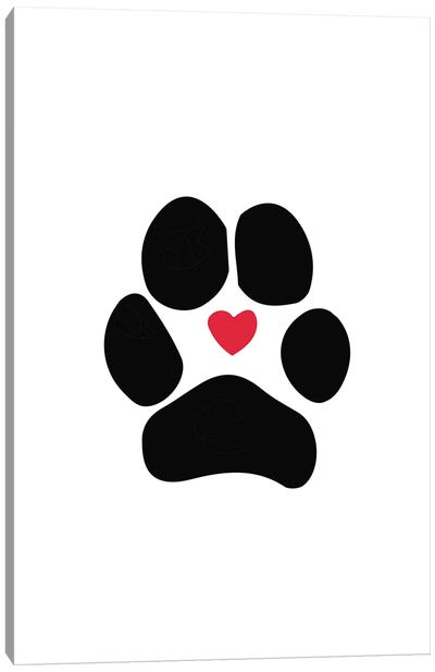 Dog Paw Canvas Art Print