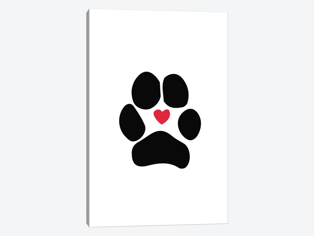 Dog Paw by Sketch and Paws 1-piece Canvas Art Print