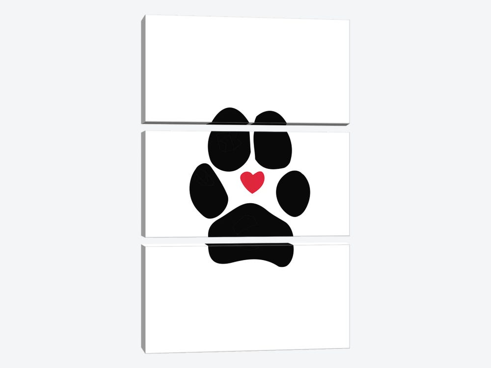 Dog Paw by Sketch and Paws 3-piece Art Print