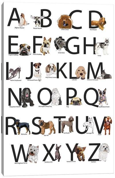 Dog Breed Abcs Canvas Art Print