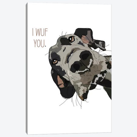 Dog Love Canvas Print #SAP39} by Sketch and Paws Canvas Print