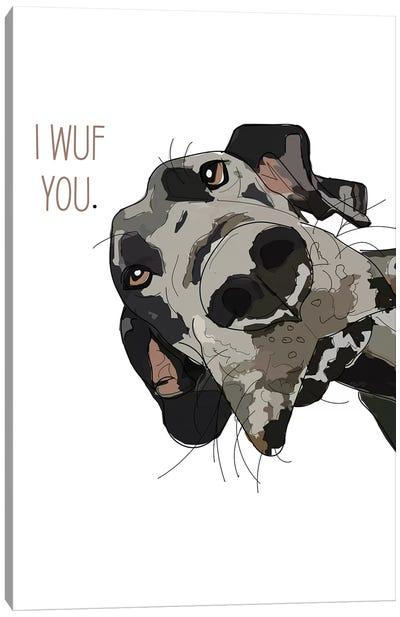 Dog Love Canvas Art Print