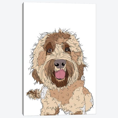 Doodle Love Canvas Print #SAP40} by Sketch and Paws Canvas Artwork