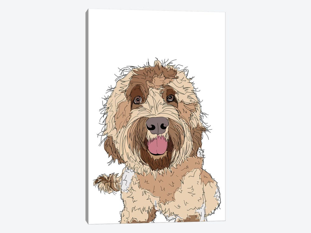 Doodle Love by Sketch and Paws 1-piece Art Print