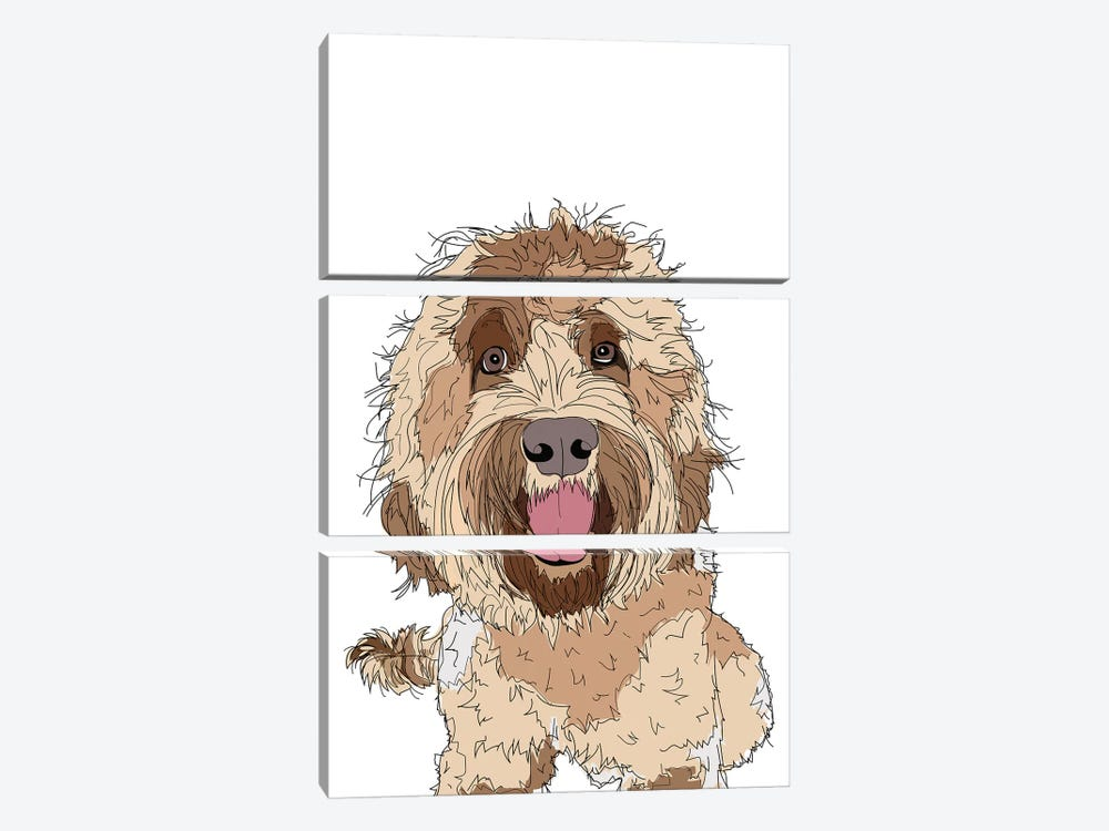 Doodle Love by Sketch and Paws 3-piece Canvas Print