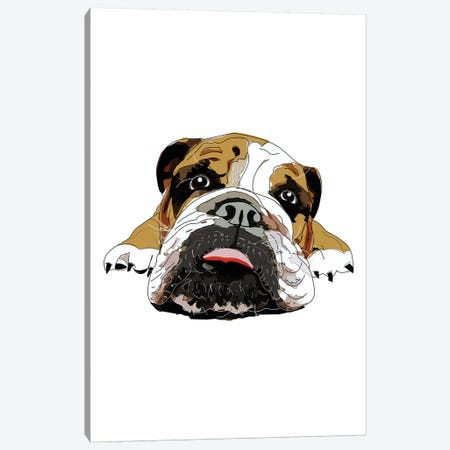 English Bulldog Canvas Print #SAP41} by Sketch and Paws Canvas Wall Art
