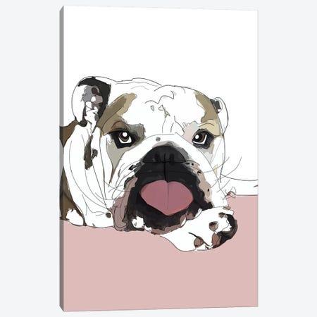 English Bulldog Love Canvas Print #SAP42} by Sketch and Paws Canvas Art