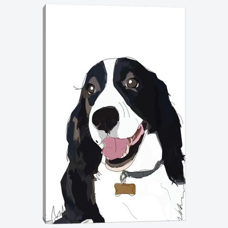 English Springer Spaniel I 3-Piece Canvas #SAP44} by Sketch and Paws Art Print