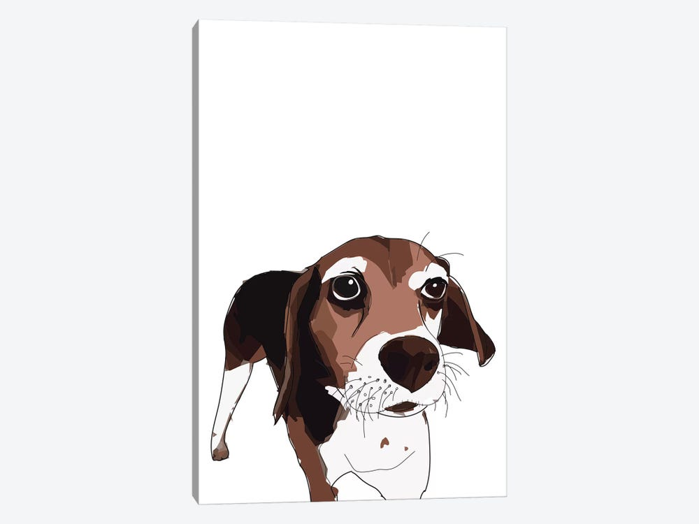 Beagle by Sketch and Paws 1-piece Canvas Wall Art