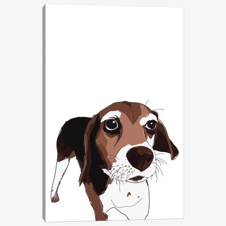 Beagle Canvas Print #SAP4} by Sketch and Paws Canvas Art Print