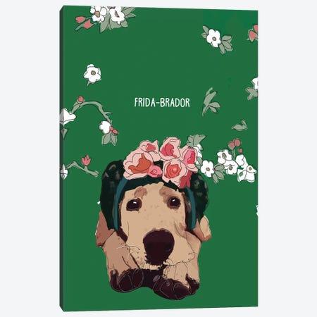 Frida-Brador Canvas Print #SAP50} by Sketch and Paws Art Print