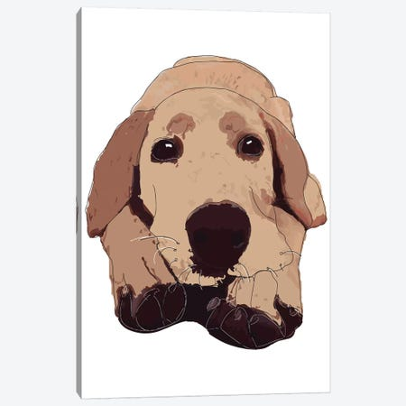 Golden Labrador Canvas Print #SAP56} by Sketch and Paws Canvas Wall Art