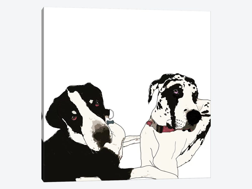 Great Danes by Sketch and Paws 1-piece Art Print