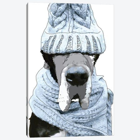 Great Dane Winter Sweater Canvas Print #SAP63} by Sketch and Paws Canvas Art