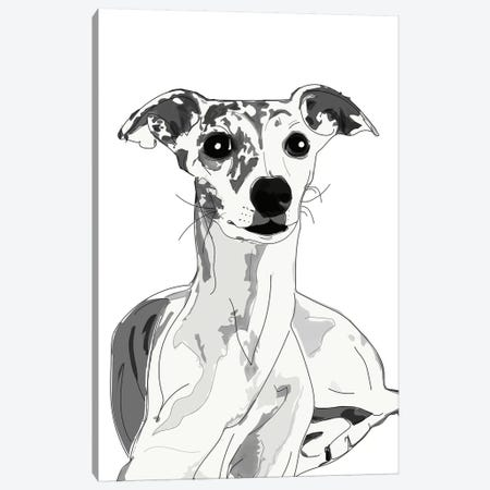 Greyhound Beauty Canvas Print #SAP64} by Sketch and Paws Canvas Art Print