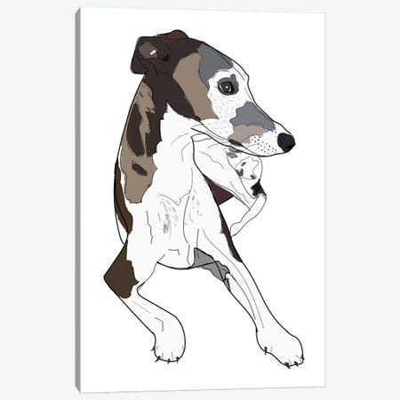 Greyhound Family Dog Canvas Print #SAP65} by Sketch and Paws Canvas Print