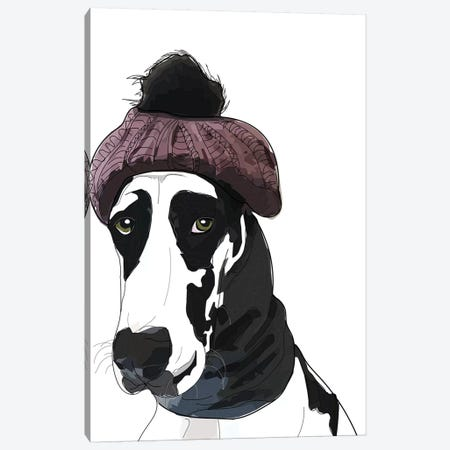 Hipster Great Dane Canvas Print #SAP68} by Sketch and Paws Canvas Wall Art