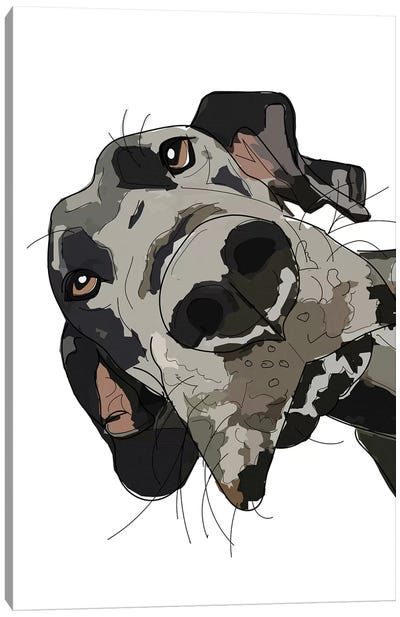 In Your Face Great Dane Canvas Art Print