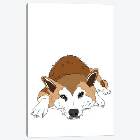 Jax From London Canvas Print #SAP77} by Sketch and Paws Canvas Art