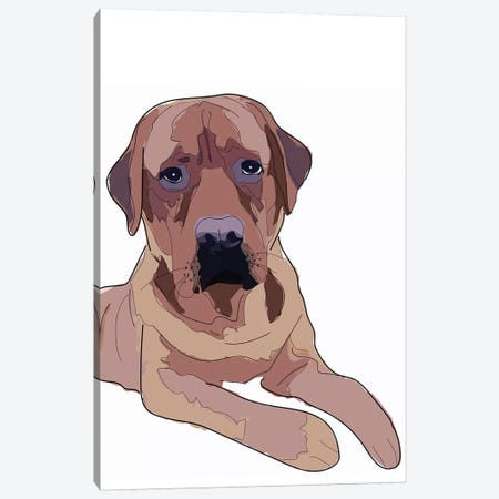 Labrador II Canvas Print #SAP79} by Sketch and Paws Canvas Print