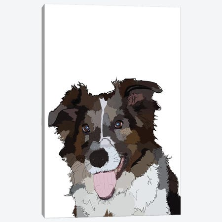 Bella The Dog Canvas Print #SAP7} by Sketch and Paws Art Print