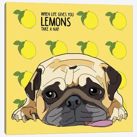 Lemons Canvas Print #SAP81} by Sketch and Paws Canvas Artwork