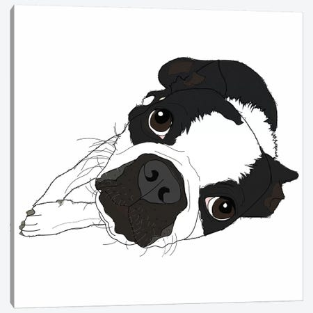 Love Dog Canvas Print #SAP82} by Sketch and Paws Canvas Wall Art