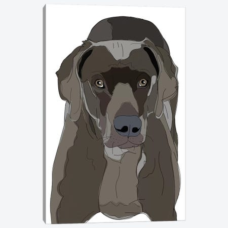 Love This Dog Canvas Print #SAP83} by Sketch and Paws Canvas Wall Art