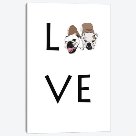 Love Your Dog English Bulldogs Canvas Print #SAP85} by Sketch and Paws Canvas Art Print