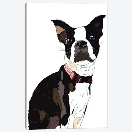 Nadias Boxer Canvas Print #SAP89} by Sketch and Paws Canvas Art