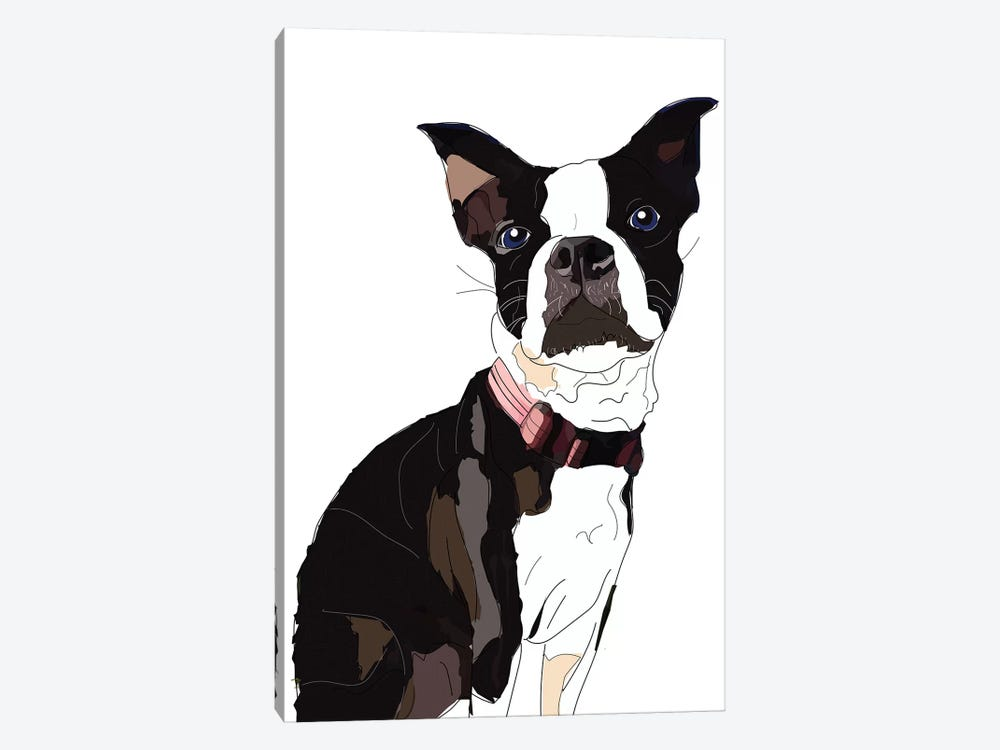 Nadias Boxer by Sketch and Paws 1-piece Canvas Wall Art