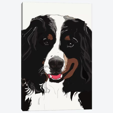 Bernese Mountain Dog I Canvas Print #SAP8} by Sketch and Paws Canvas Art