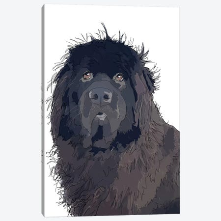 Newfie Canvas Print #SAP90} by Sketch and Paws Canvas Print