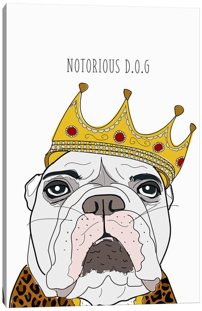 Notorious Dog Canvas Art Print