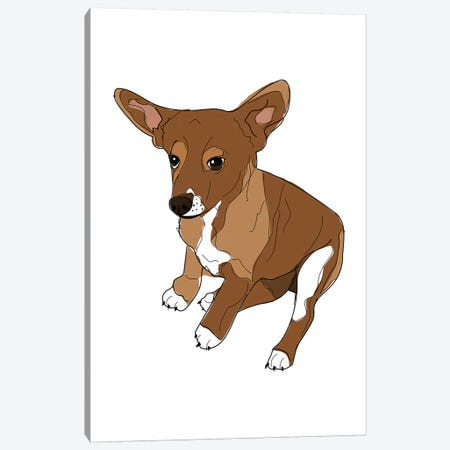 Puppy Love Canvas Print #SAP96} by Sketch and Paws Canvas Wall Art