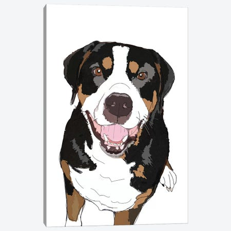 Rottweiler Canvas Print #SAP97} by Sketch and Paws Canvas Artwork