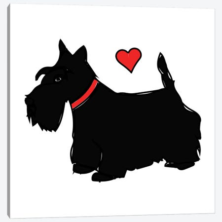 Scottie Canvas Print #SAP99} by Sketch and Paws Art Print