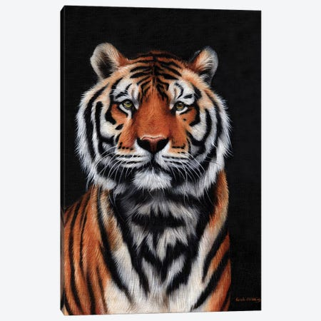 Tiger III Canvas Print #SAS104} by Sarah Stribbling Art Print