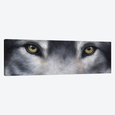 Wolf Eyes Canvas Print #SAS112} by Sarah Stribbling Canvas Art Print