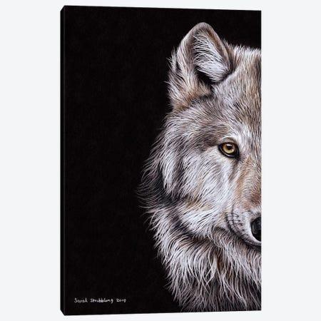 Wolf I Canvas Print #SAS114} by Sarah Stribbling Canvas Art