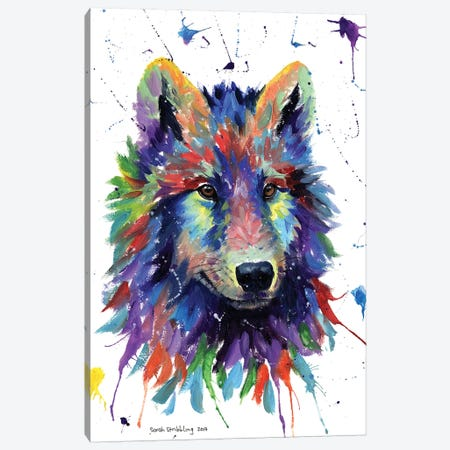 Wolf III Canvas Print #SAS116} by Sarah Stribbling Canvas Art