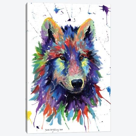 Wolf III Canvas Print #SAS116} by Sarah Stribbling Canvas Art
