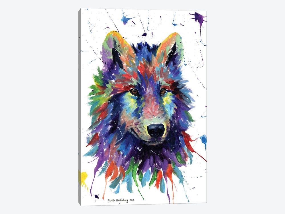 Wolf III by Sarah Stribbling 1-piece Canvas Art Print