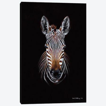 Zebra Black II Canvas Print #SAS120} by Sarah Stribbling Canvas Art