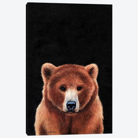 Bear  Canvas Print #SAS13} by Sarah Stribbling Canvas Art