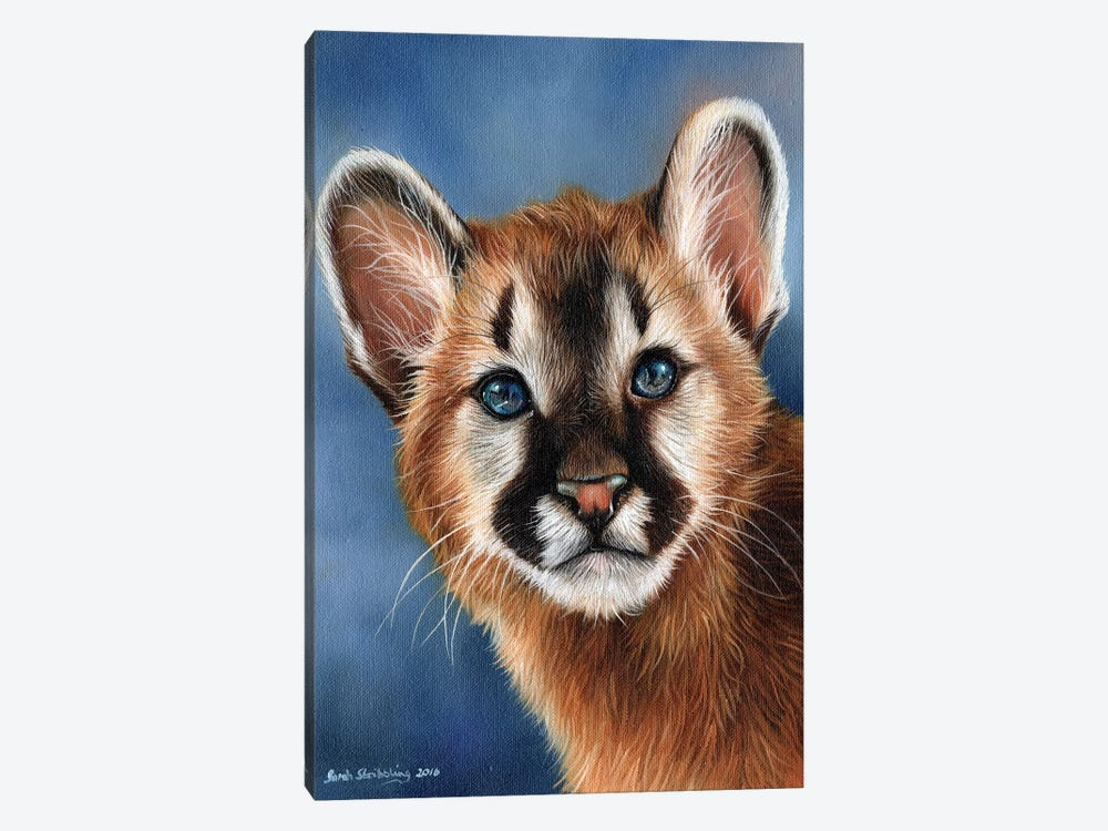 Cougar Cub by Sarah Stribbling 1-piece Art Print