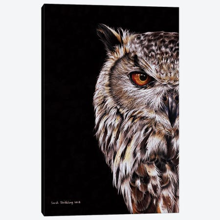 Eagle-Owl I Canvas Print #SAS34} by Sarah Stribbling Art Print